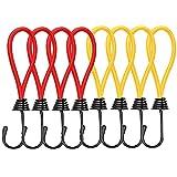 Cyleibe Spanngummi mit Haken, Elastic Rope Schnallenhaken Expanderschlingen Gummispanner für Planen und Netze | Planenspanner | Expanderhaken | Spannhaken, 8 Stück