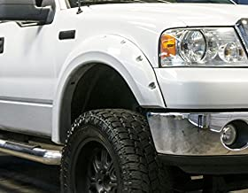 RDJ Trucks PRO-Offroad Bolt-On Style Fender Flares - Fits Ford F150 2004-2008 - Set of 4 - Smooth Paintable OE Black