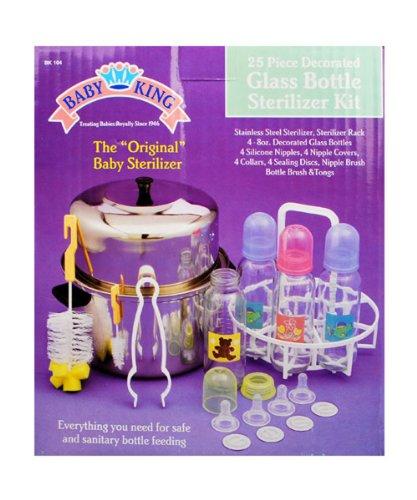 Baby King 25-Piece Glass Bottle Sterilizer Kit - multi, one size