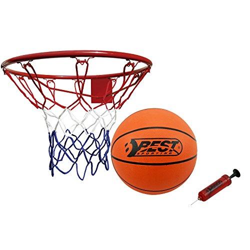 Best Sporting Basketball Set aus Basketballkorb mit Ball und Pumpe