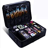 Relavel Makeup Train Case 3 Layer Large Size Professional Cosmetic Organizer Make Up Artist Box with...