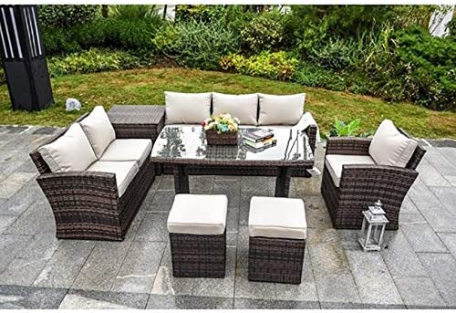 Direct Wicker 7 Max 79% OFF PCS Outdoor Rattan Garden Patio Furniture OFFicial site