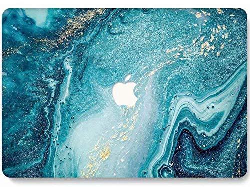 RQTX Custodia per Laptop MacBook PRO 13 Pollici (Versione 2020) Cover Rigida 3D Opaca A2251 A2338 M1 A2289 Touch Bar - Creative Wave