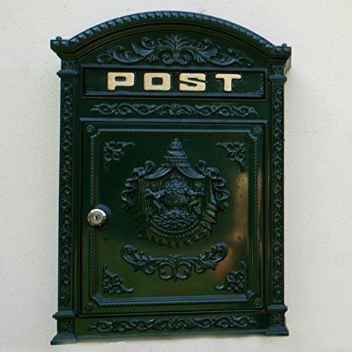 Antikas | Briefkasten Old England | nostalgischer Postkasten aus rostfreiem Aluguss | Wandbriefkasten nach antik englischen Vorbild