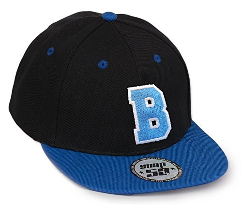 Morefaz Bonnet Chapeau Casquette Snapback 59 Baseball Cap Alphabet letters A-Z Snap Back (B)