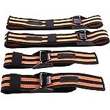 Bandas de oclusión, paquete de 4 (2 bandas de bíceps y 2 bandas de pierna), cómodas bandas elásticas para entrenamiento de restricción del flujo sanguíneo y rápido crecimiento muscular
