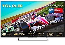TCL 55C727 4K QLED Gaming Fernseher 55 Zoll Smart TV (Quantom Dot, 100% Farbvolumen, 100Hz MEMC, Android 11, HDMI 2.1, Game Master Pro, Dolby Vision IQ & Atmos, ONKYO, Google Duo, Alexa) [2021]©Amazon