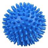 Lopbinte 1 bola de masaje con pinchos suave para pies, brazos, cuello, espalda, color azul, 8 cm