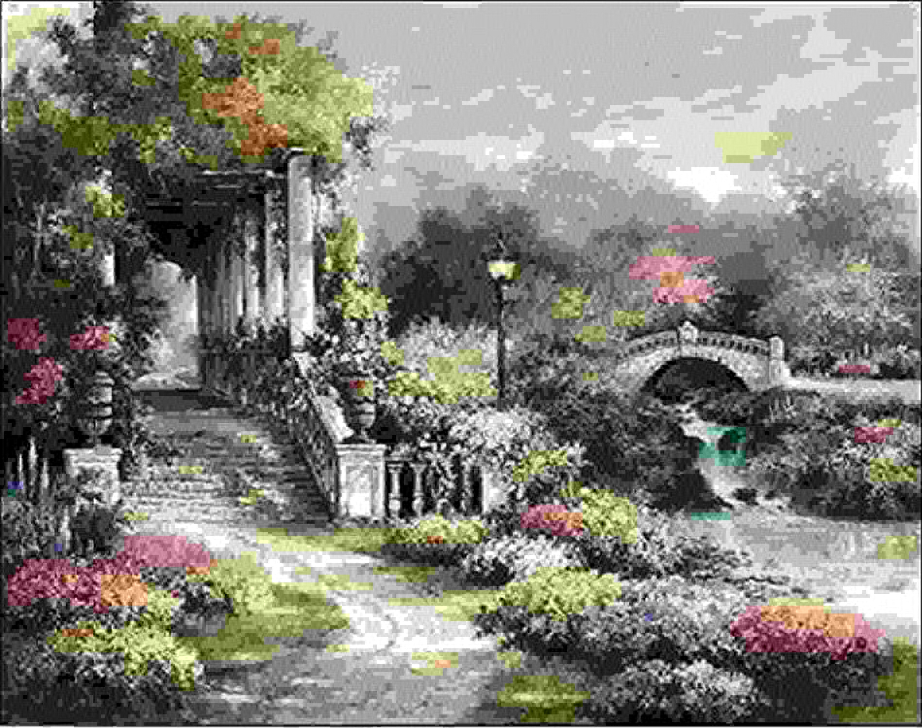 saludable Rahmen-Kunst Bastidor de Cua - Imagen - - - James Lee   Classic Garden Retreat Lienzo - 40x50  online barato