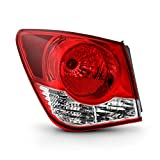 Fits 2011 2012 2013 2014 2015 Chevy Cruze 2016 Cruze Limited Chrome Red Outer Tail Lamp Brake Light Driver Left Side