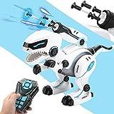 WAQB XL Dinosaure Jouet,Robot électronique interactif Intelligent, Lancement de Bombes Molles, Jouet de Combat pour Enfants de Programmation de Marche d'encyclopédie de Dinosaures