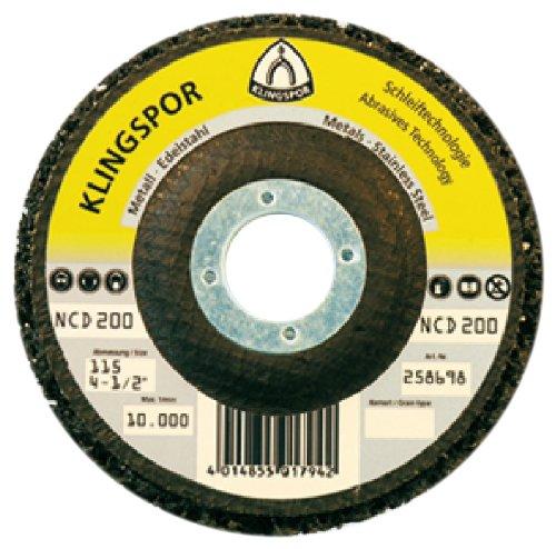 "Klingspor 259043 Grob-Reinigungsscheibe NCD 200\"" 115x222mm SiC"