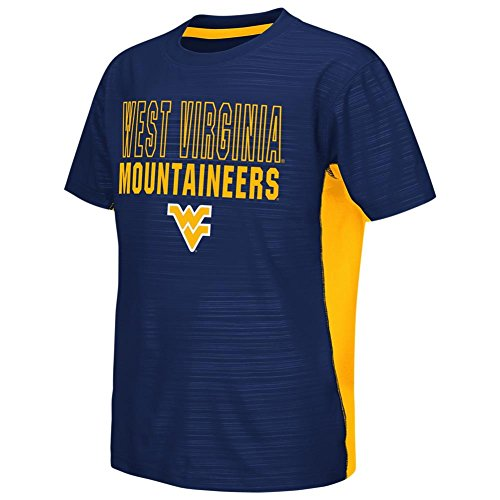 colosseum ncaa virginia t shirts Colosseum West Virginia Mountaineers Youth Tee Performance Poly Logo T-Shirt