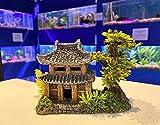 Mezzaluna Gifts - Adornos de acuario con temática japonesa, Buda, pagoda, bonsái, decoración (PAGODA y plantas de 10 cm de alto x 13 cm de largo x 8 cm de ancho.