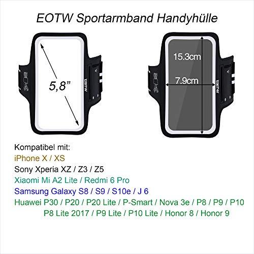 EOTW Sportarmband Handyhülle Kompatibel mit Huawei P20/ P20 Lite/ P30, Handytasche Sport für Joggen Laufen Schwarz - 2