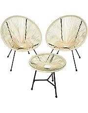 tectake 800730 Set van 2 stoelen Gabriella met tafel