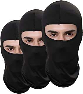 JANSONG Pack of 3 Outdoor Camouflage Accessories Hunting Fishing Thin Ski Mask Camo Airsoft Balaclava Motorcycle Mask