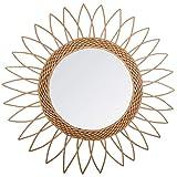 Paris Prix Atmosphera Créateur d'intérieur - Miroir en Rotin Pointe 50cm Beige
