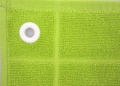 Handtuch mit Öse 50 x 50 verschiedene Farben, Farbe:grün