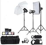 Gowe Studio photo professionnel Speedlite kit de lampe d'éclairage avec ensemble de 180W Studio Flash stroboscopique pour support d'éclairage à lumière