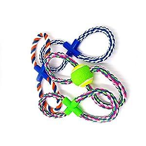 petfun rb-03 naturel coton tressé Jouet Corde pour chien interactif Durable avec deux couleurs