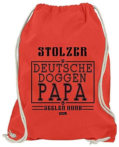 HARIZ Turnbeutel Stolzer Deutsche Doggen Papa Hund Frauchen Plus Geschenkkarten Rot One Size