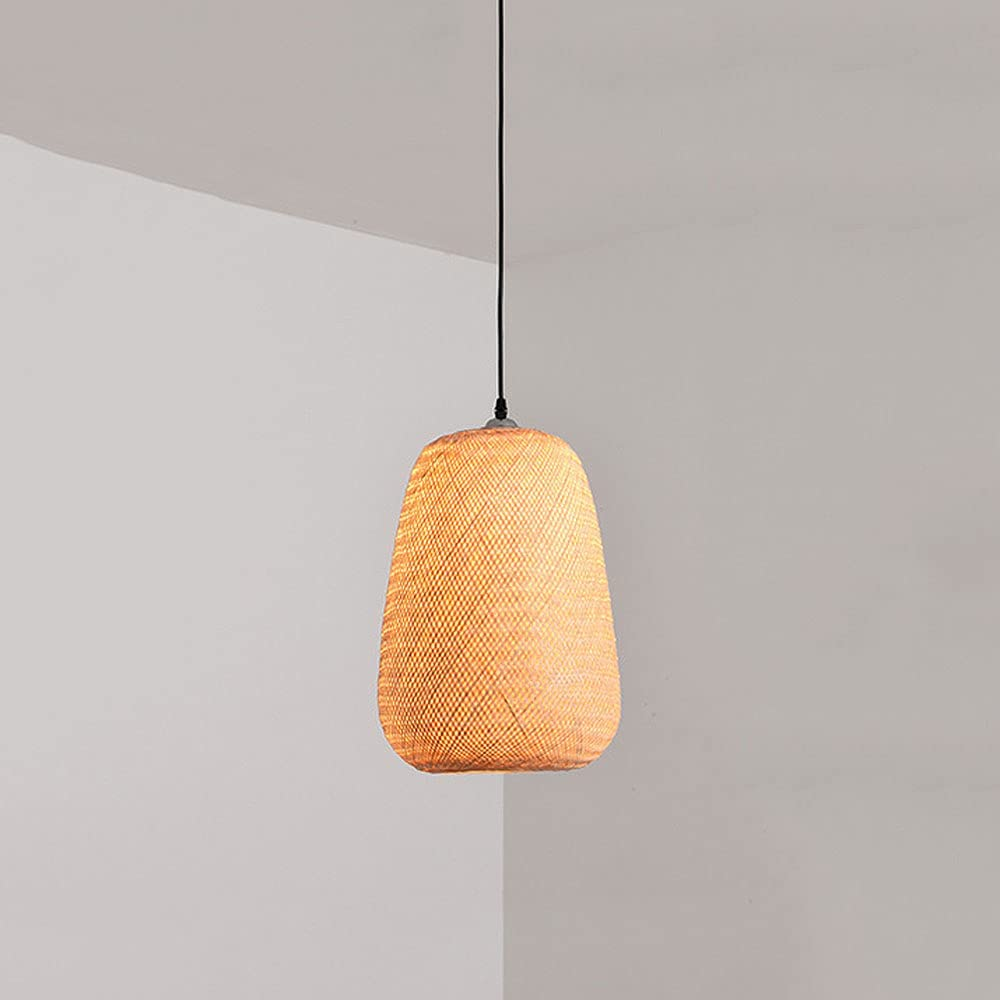 Limited time for free shipping DENGJIN Bamboo Weave Lampshade Chandelier Chinese E27 Restaurant We OFFer at cheap prices