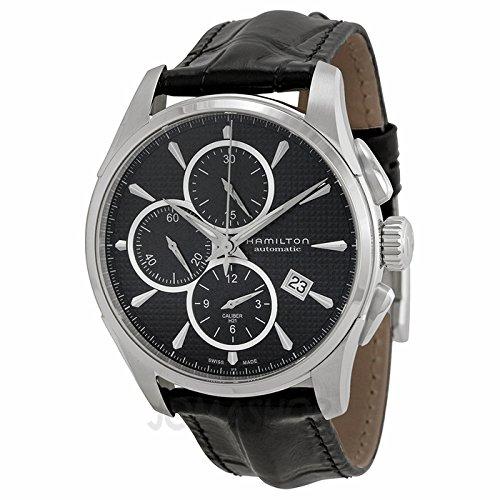 Gifts and Jewels Co. Hamilton Hamilton Jazzmaster Automatico Cronografo Nero Quadrante Mens Orologio H32596731