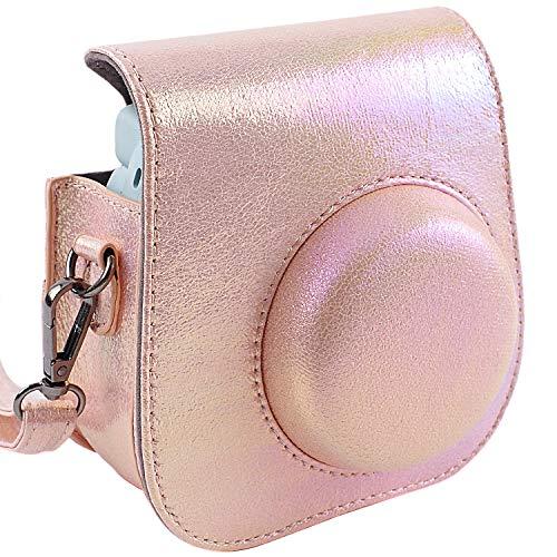 SAIKA Kameratasche für Fujifilm Instax Mini 9 Sofortbildkamera Auch passend für Mini 8 und Mini 8+ Kamera, Shining Pink