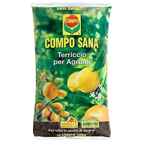 COMPO SANA tierra de macetas para el cultivo de cítricos frutos lleno