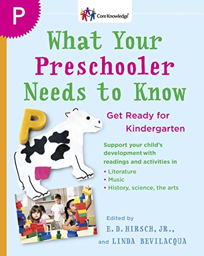 What Your Preschooler Needs To Know Get Ready For Kindergarten Core Knowledge Series