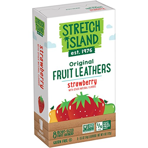 Stretch Island Original Fruit Leather, Strawberry, 0.5 Ounce Leathers, 8 Count