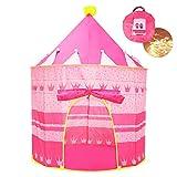Opret Tienda de Princesa para Niñas Pop Up Carpa Plegable para Niños Carpa Rosa con Bolsa de...