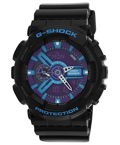 CASIO G-SHOCK (カシオ Gショック) 腕時計 メンズ アナデジモデル GA-110HC-1A Hyper Colors ブラック×ブルー 海外モデル 逆輸入品 [並行輸入品]