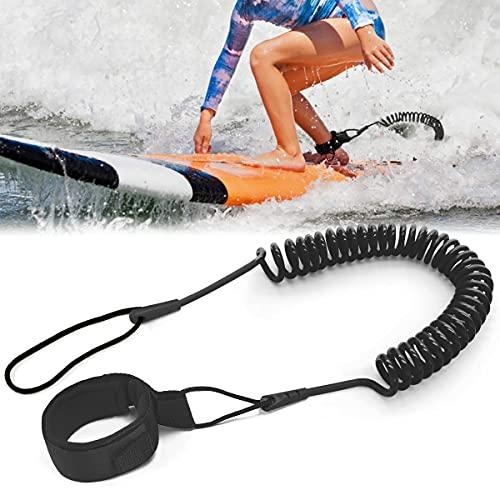 Tusenpy 10 Pies Leash de Tabla de Surf,Correa de Pie de Surf TPU,Correa Espiral Seguridad de Tobillo para Stand Up Paddle Board Kayak