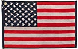JP LANN GOLF USA Flag Golf Towel - Jacquard Style, Red/White/Blue