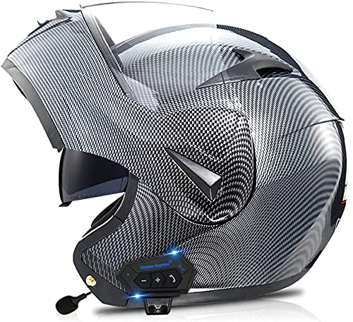 Casco de Moto Modular Bluetooth Integrado con Doble Anti Niebla Visera Cascos de Motocicleta Dot/ECE Homologado a Prueba de Viento para Adultos Hombres Mujeres (Color : 7, Size : XS)