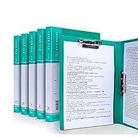 法的パッドのためのホールダーA4クリップボードホールダー会議ホールダー、カバーが付いているホールダーの仕事の折りたたみ式クリップボード、ポートフォリオオーガナイザーA4クリップボード (Color : Green)