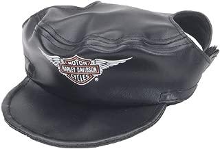 HARLEY-DAVIDSON Winged Bar & Shield Pet Cap Black Vinyl Small H2500-H-BK1SML
