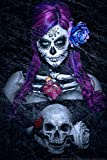 Day of The Dead Blues by Daveed Benito Cool Wall Decor Art Print Poster 12x18