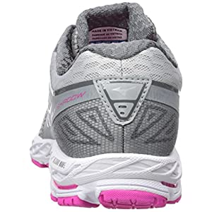 Mizuno Running Women's Wave Shadow Shoes, Griffin/White/Electric, 7 B US