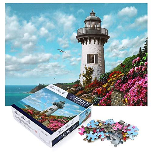 Adultos 1000 Piezas Redondo Puzzle, Rompecabezas Redondo de 1000 Piezas Juego Intelectual de Paleta de para, Rompecabezas Grande Educativo El Alivio del Estrés Juguete para Adultos Niños (B)