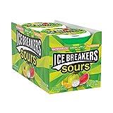 ICE BREAKERS Sours Sugar Free Mints, (Watermelon, Green Apple, Tangerine) 1.5 Ounce (Pack of 8)