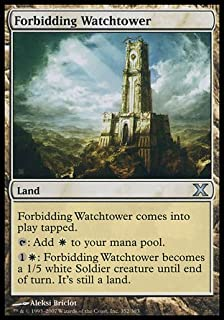 Magic: the Gathering - Forbidding Watchtower (352/383) - Tenth Edition - Foil