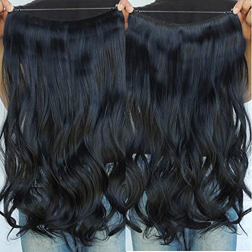 Secret Flip in Curly Wavy Halo Hair Extension by SY