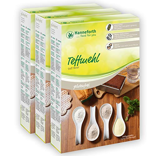Glutenfreies Teffmehl   3x500gr   Hanneforth