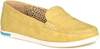 VAPH Women's Flat Heel Comfort Amela Suede Leather Loafers Shoes