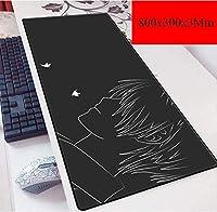 ゲーミングマウスマットラージマウスマット大型ゲーミングマウスパッド、アニメ漫画のマウスパッド、防水ノンスリップキーボード・パッド (Color : E)