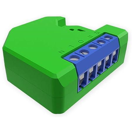 Shelly DIMMER spositivo Wi-Fi per il controllo di luci alogene, LED, trasformatori ferromagnetici dimmerabili, supportati da un'alimentazione di 110-230V, verde