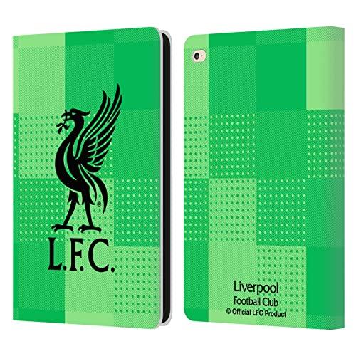 Head Case Designs Licenza Ufficiale Liverpool Football Club in Casa Portiere 2021/22 Cover in Pelle a Portagoglio Compatibile con Apple iPad Air 2 (2014)